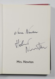 BOOK MRS. NEWTON WITH SIGNATURES OF JUNE NEWTON AND HELMUT NEWTON [June Newton (Alice Springs) (1923)]