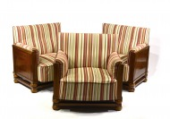 THREE CLUB ARMCHAIRS []