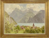 Pohled na Vierwaldtstädtersee [Edward Harrison Compton (1881-1960)]