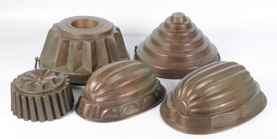 Set of kitchen molds
