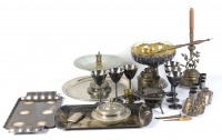 Set of metallic object and dishes []