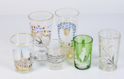 Set of commemorative glasses