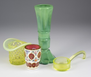 Set of glass objects