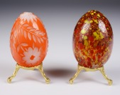 Two decorative eggs []