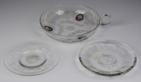 Bowl and 2 plates []