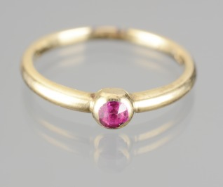 RING WITH A RUBY