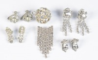 Collection of rhinestone earrings []