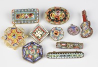 Collection of millefiori brooches []