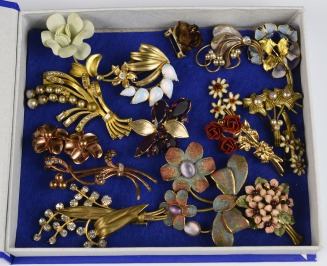 Collection of floral brooches