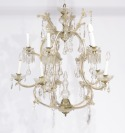 Crystal chandelier and two wall lamps []