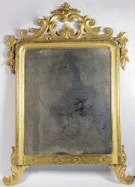 Frame with a mirror