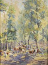 To the pasture [František Řehořek (1890-1982)]