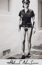 Evi as Cop, Half-Naked [Helmut Newton (1920-2004)]