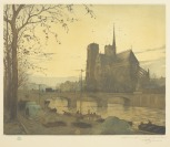 Notre Dame in the Evening [František Tavík Šimon (1877-1942)]