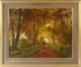 Forest Interior with a Figure on a Path [Johannes Boesen (1847-1916)]