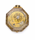 Octagonal silver verge fusee watch with enamels []