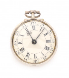 Silver pocket watch verge fusee