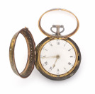Pocket watch with tortoise-shell case []