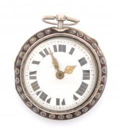 Silver pocket watch with