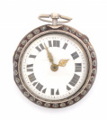 Silver pocket watch with []