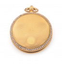 Gold ladies pocket watch with pearls []
