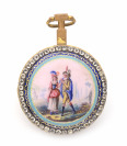 Pocket watch with a gallant scene []