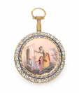 Pocket watch with a miniature painting []