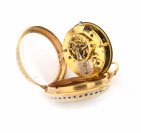 Gold pocket watch with enamels []