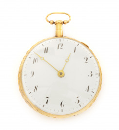 Gold striking pocket watch