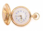 Gold pocket watch with a chatelaine []