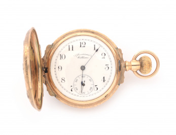 Gold ladies pocket watch
