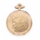 Gold pocket watch with poppies []