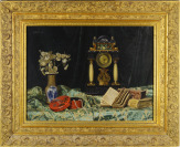 Still life with a clock [František Pawlu (?)]