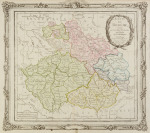 Map of Bohemia, Moravia and Silesia [Louis Brion de la Tour (1756-1823)]