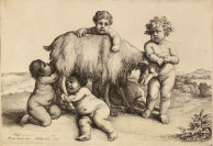 Four Boys, a Small Satyr and a Goat [Václav Hollar (1607-1677)]