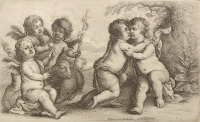 Jesus, Saint John Baptist and Cherubs [Václav Hollar (1607-1677)]