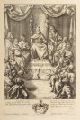Illustration aus Vergils Epos (König Latinus) [Wenceslaus Hollar (1607-1677) Francis Cleyn (1589-1658)]