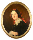 Lady with a Red Ribbon in her Hair [François Riss (1804-1886)]