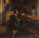 Lady with a Book in an Interior [Václav Kohout (1898-?)]