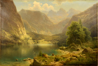 Mountain Landscape with Königssee [Adolf Chwala (1836-1900)]