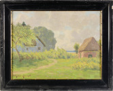 Cottages in the Countryside [Paul Müller-Kaempff (1861-1941)]