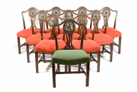 Set of 11 Chairs Known from Valentin Rosenfeld`s Apartment, designed by Adolf Loos (1870–1933) []