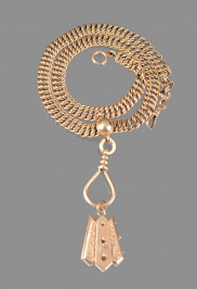 Gold Chatelaine with a Medallion
