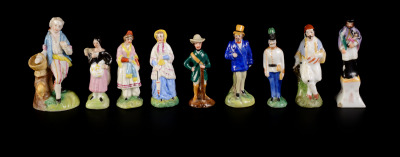 Set of Miniature Figures - 9 pieces