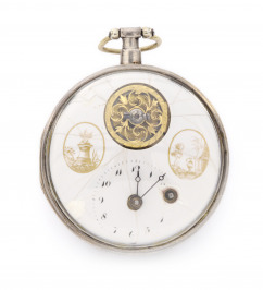 Pocket Watch with Balancing Wheel in the Dial