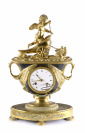Empire Clock with a Cupid on s Carriage []