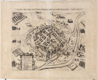 Plan of the Siege of Pilsen [Georg Keller (1568-1634)]