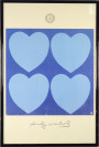 "Two Posters ""Heart"", Andy Warhol [Andy Warhol (1928-1987)]"