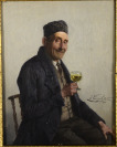 Old Man with a Glass of Vine [Joseph Kinzel (1852-1925)]