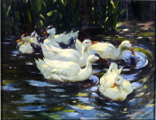Ducks on a Pond [Václav Stein (1917-1944)]